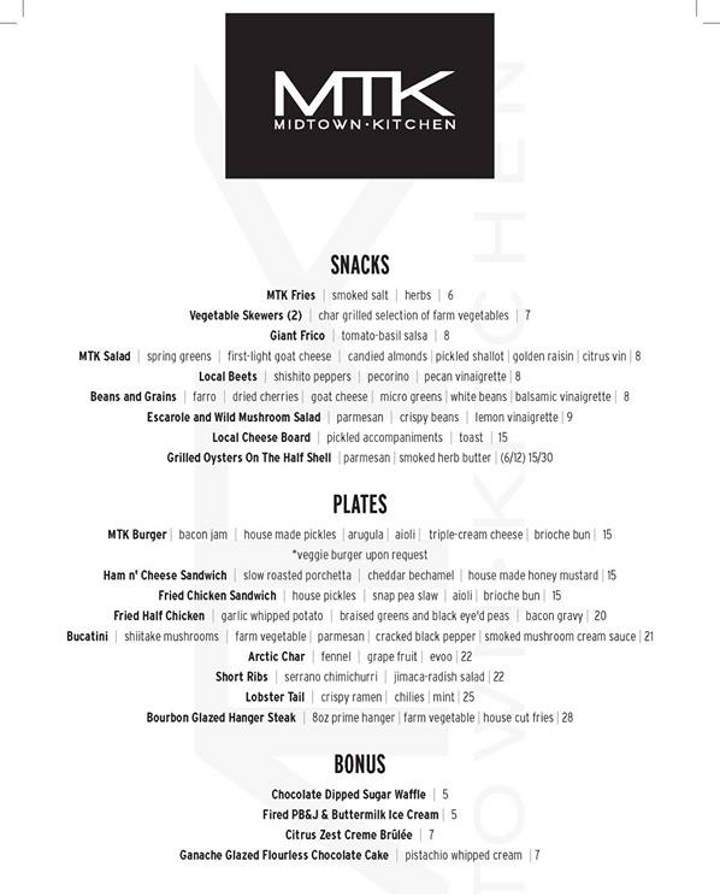 Midtown Kitchen Menu