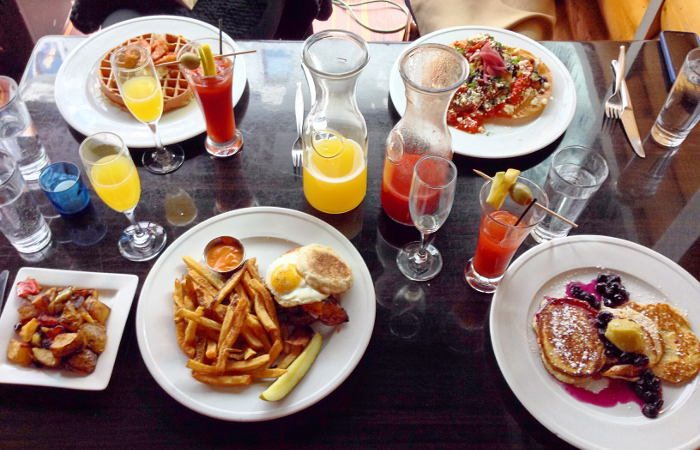 Lodge brunch table