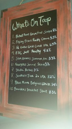 Giacobbi's Cucina Citta tap beer list