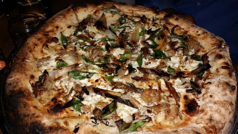 Squash Blossom & Ricotta Pizza