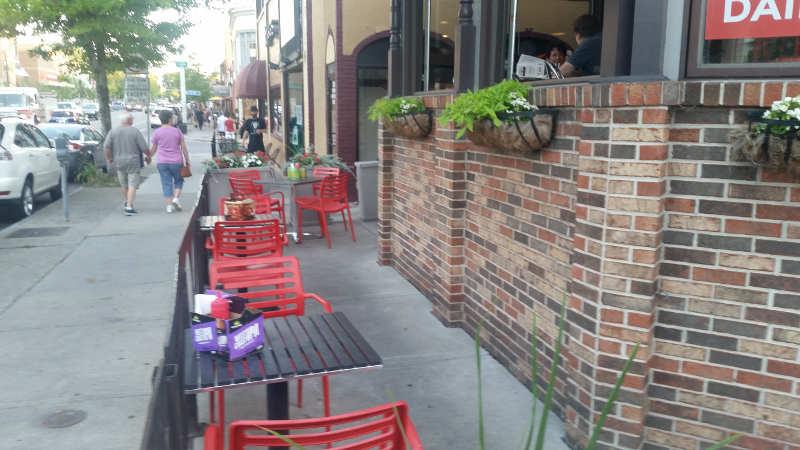 Joe's Deli--sidewalk
