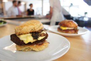 The Grange Community Kitchen, Hamburg NY Restaurants, Smoked Duck Scrapple Breakfast Sandwich
