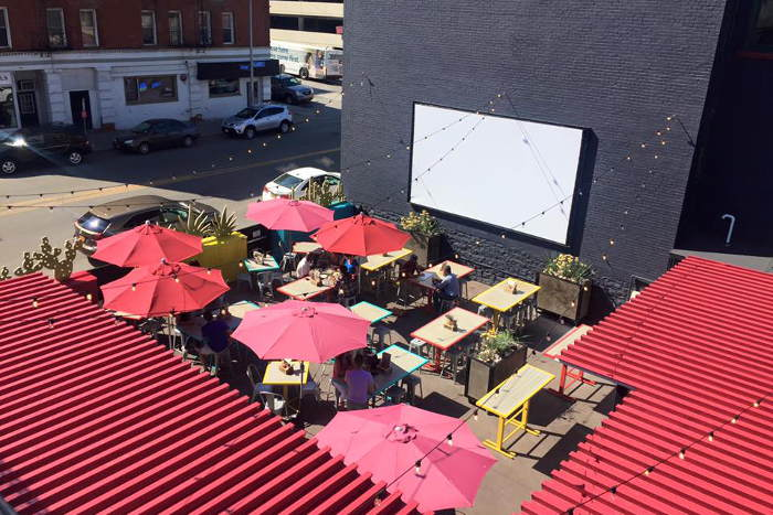 Deep South Taco View from Rooftop