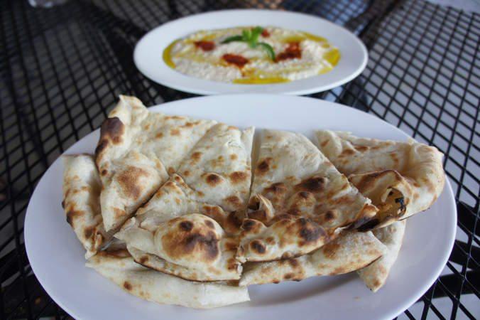 Hummus and Naan