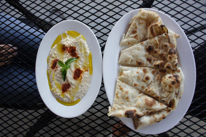 Hummus and Naan