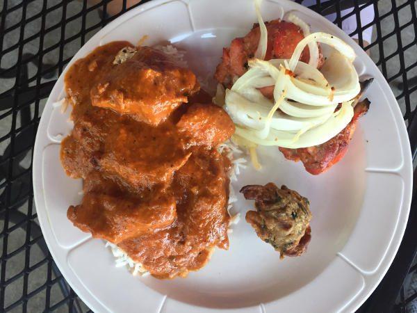 Makhani, Chicken Tandori, and Pakoras