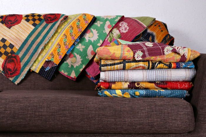 Feel Rite Gift Guide, Vintage Handmade Kantha Quilts