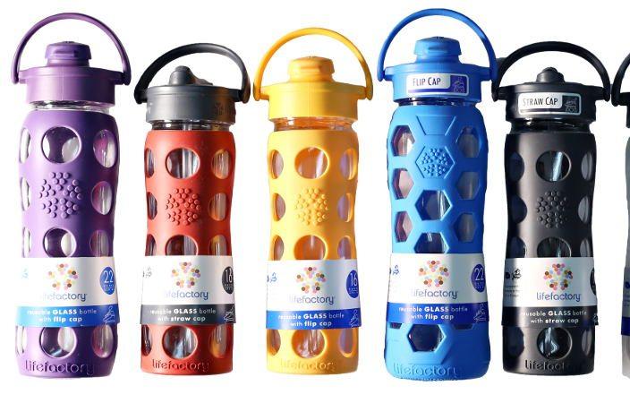 Feel Rite Gift Guide, LifeFactory Glass Bottles