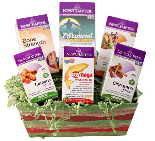 Feel Rite Gift Guide, New Chapter Supplement Gift Basket