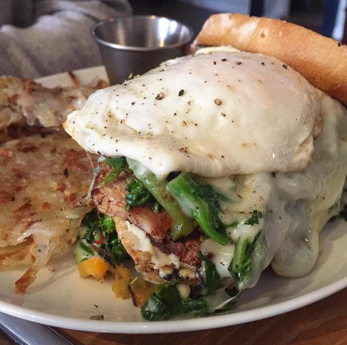 Pork Loin Sandwich at Dapper Goose Brunch