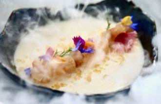 Lavender Crema Catalana , Aro Bar de Tapas