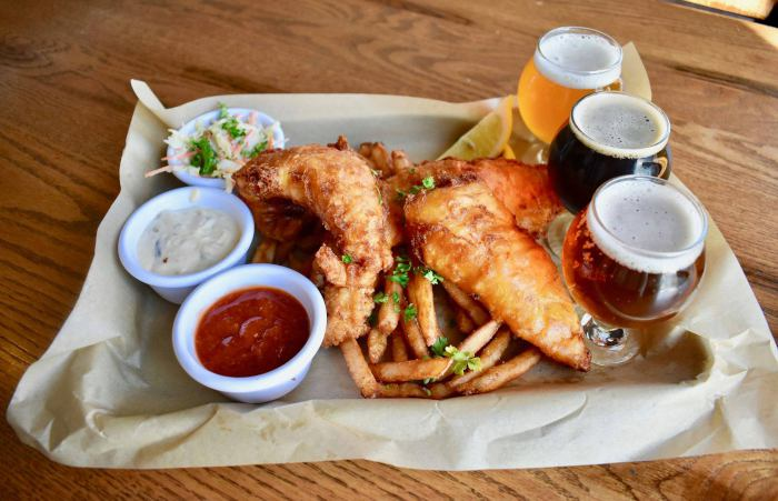 NYBP Fish Fry & Beer Flight Pairing / Photo courtesy of New York Beer Project