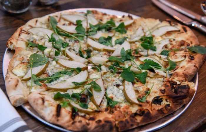 Pear and Gorgonzola Flat Bread