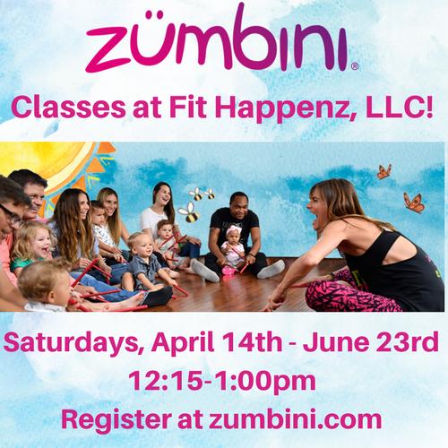 Saturday Zumbini Classes at Fit Happenz!