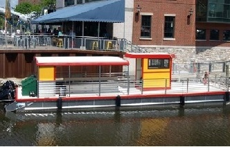 Canalside Bike Ferry Stop