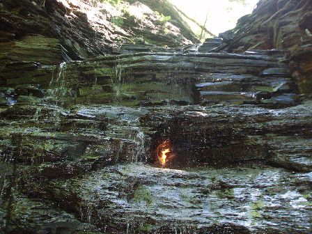 Eternal Flame and Falls at Chestnut Ridge Park