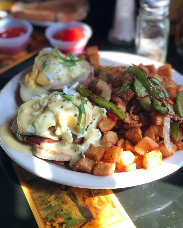 Eggs Benedict at Gypsy Parlor Brunch