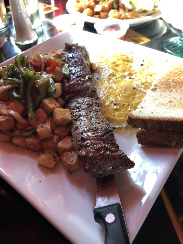 Steak & Eggs at Gypsy Parlor Brunch