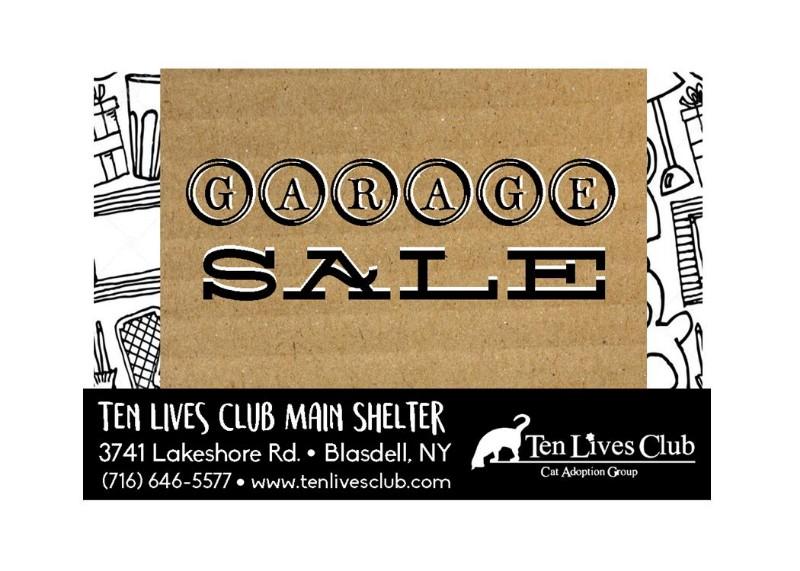 Ten Lives Club Garage Sale