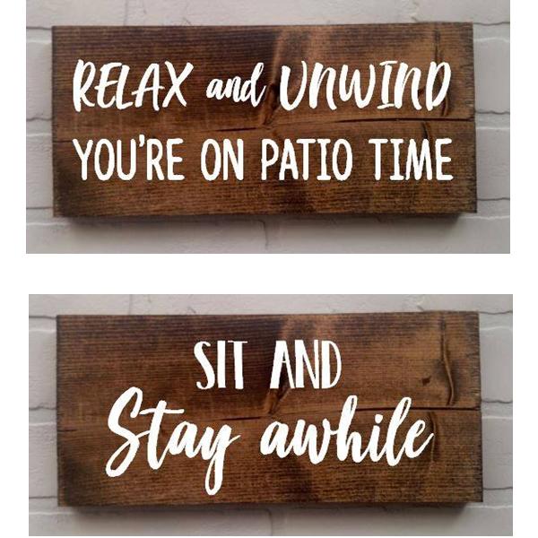DIY Patio Sign with StudioHue