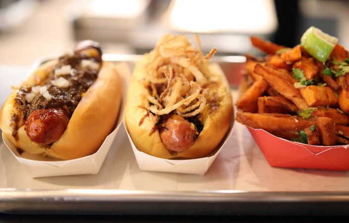 New: Frank Is Officially Slinging Hot Dogs in an Upcycled Gas Station in Kenmore