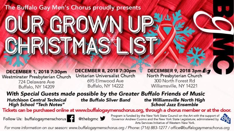 Buffalo Gay Men's Chorus | Our Grown Up Christmas