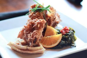 Chicken & Waffles at The Local Grille