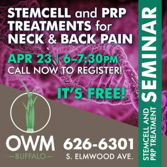 Stemcell and PRP Treatments for Neck and Back Pain