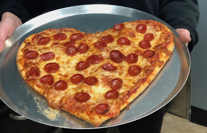 Where to Get a Heart-shaped Pizza on Valentine's Day