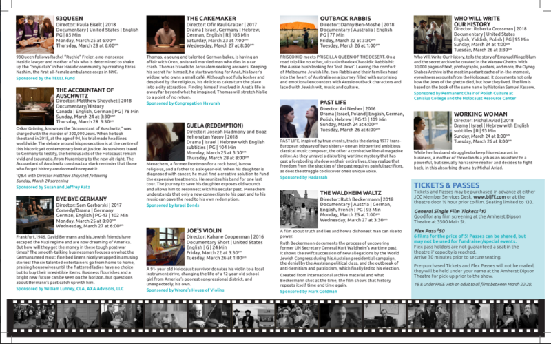 Buffalo International Jewish Film Festival