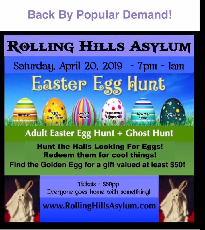Adult Easter Egg Hunt at Rolling Hills Asylum