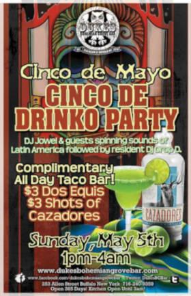 Cinco De Drinko and Complimentary Taco Buffet