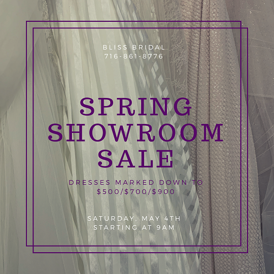 Bliss Bridal SPRING SHOWROOM SALE!