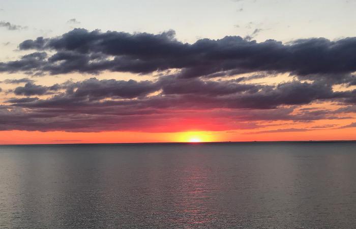 sunset Lake Erie Buffalo