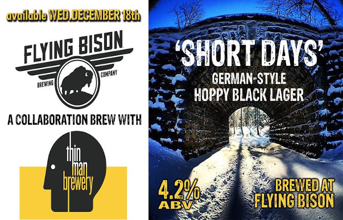 Buffalo Beer Buzz Flying Bison and Thin Man Brewery collab
