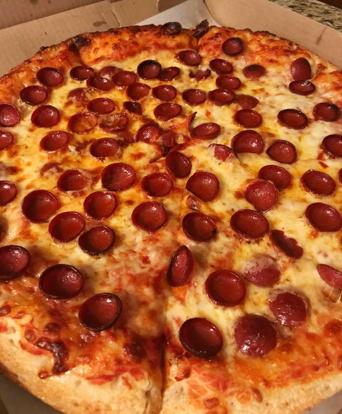 Cup-and-Char Pepperoni Pizzas