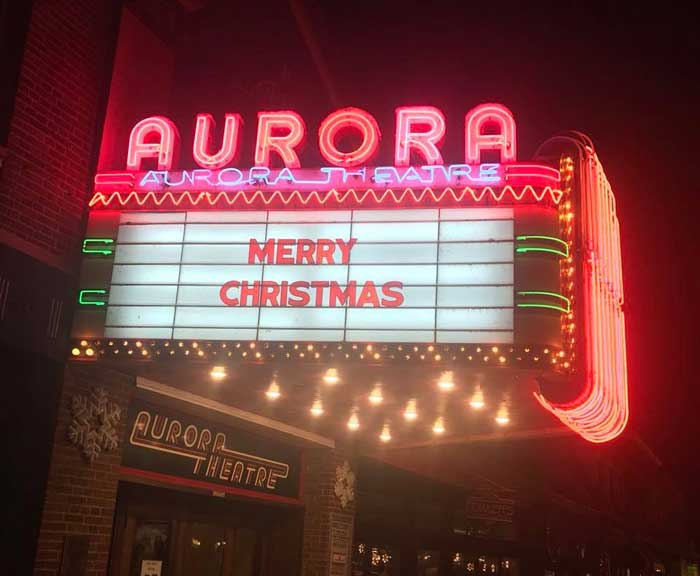 Aurora Theatre is a great place to see a movie on a chilly day
