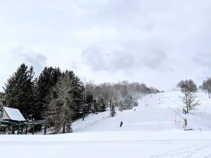 snow day at Kissing Bridge
