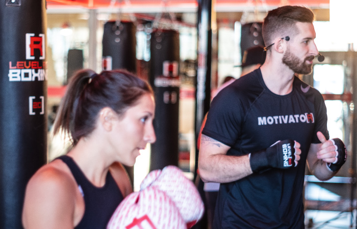 level red boxing boxing classes