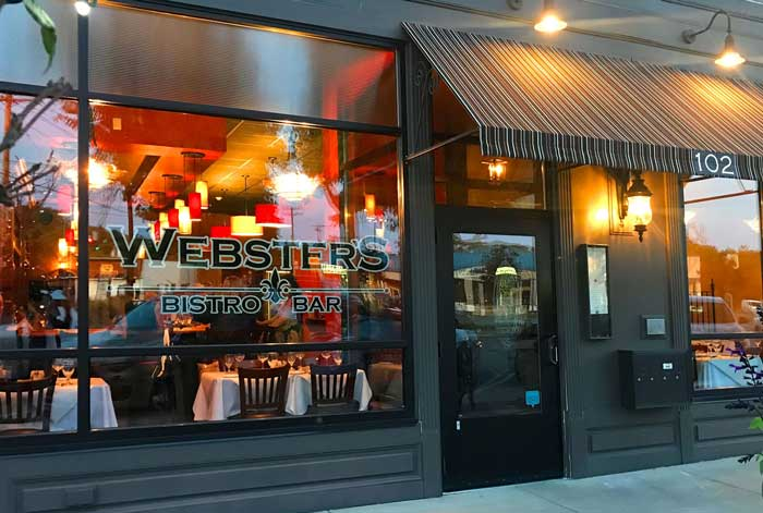 wine bars: websters bistro and bar