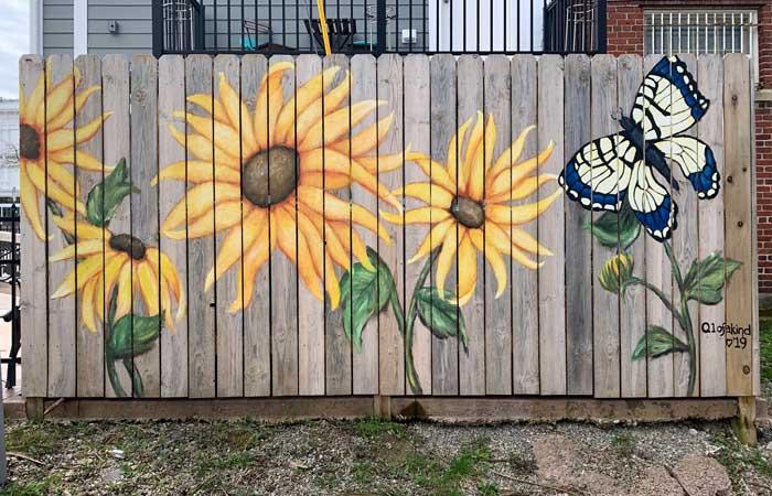 street art: Flowers Fence