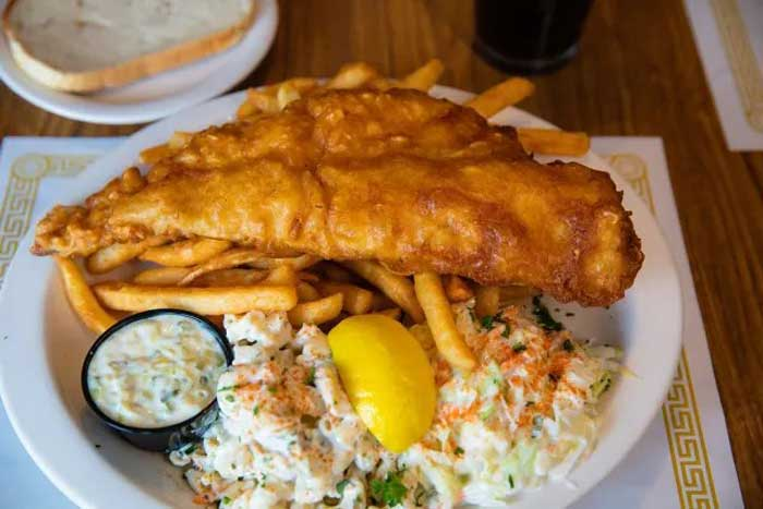 fish fry: The Globe