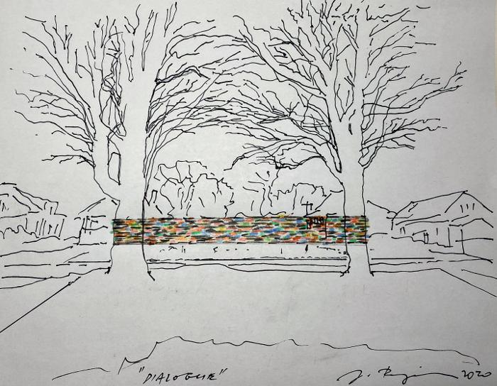 "Proposal sketch from Jozef Bajus' ""Dialogue"""