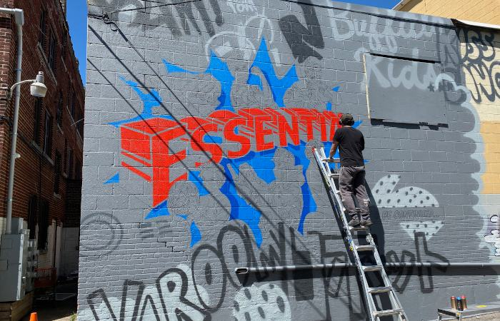Frontline Workers Mural x Chuck Tingley