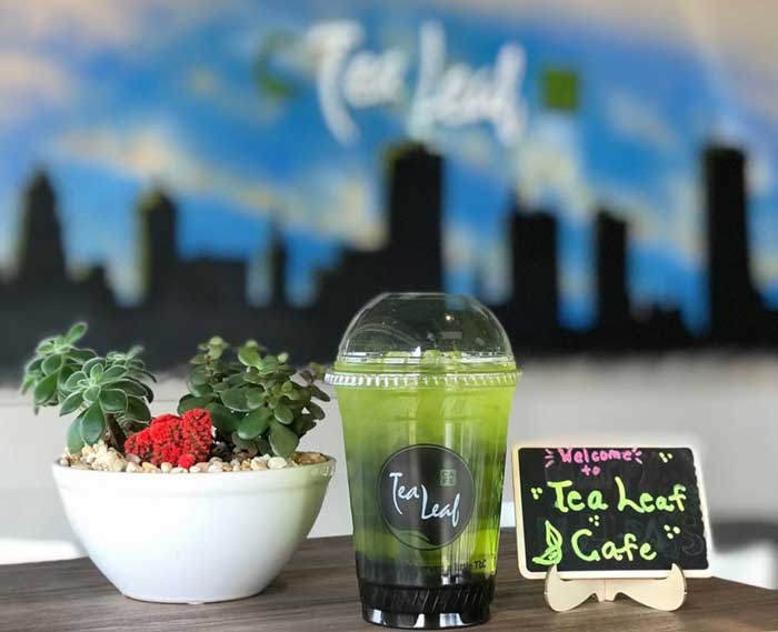 bubble tea: tea leaf