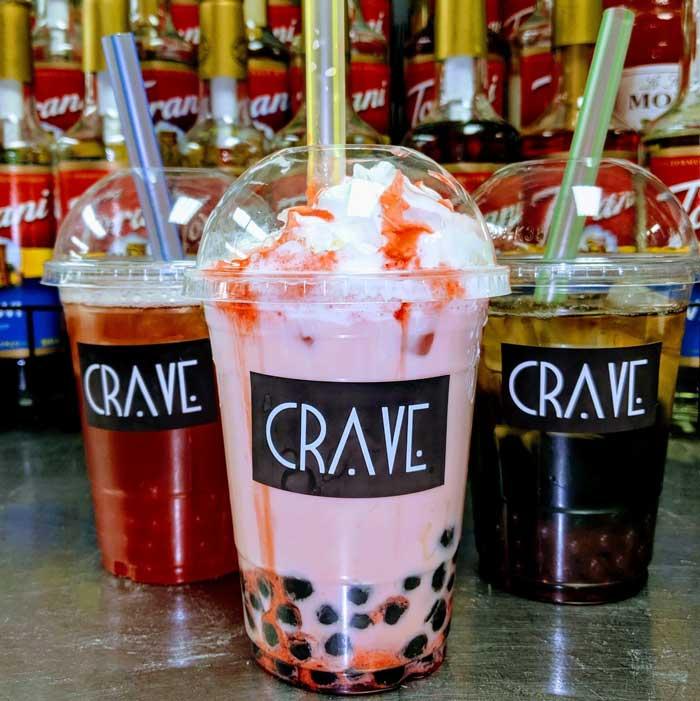 bubble tea: Crave Bubble Tea Cafe