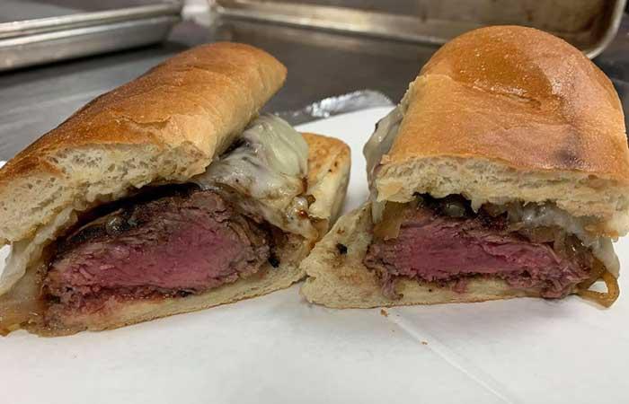 Old Pink steak sandwich