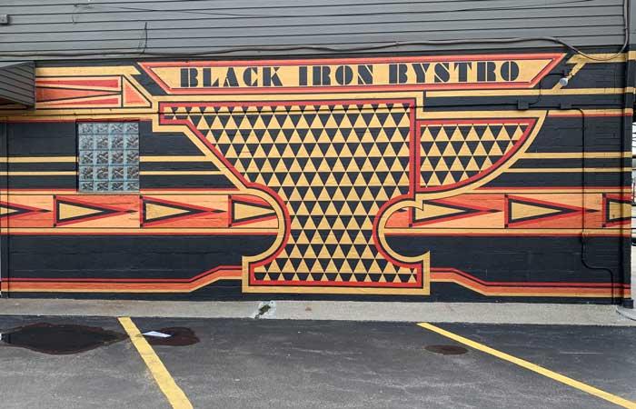 Black Iron Bystro south buffalo mural