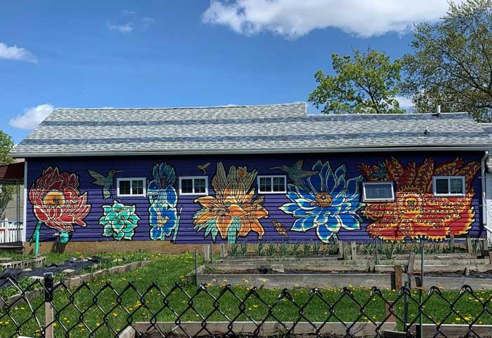 flowers south buffalo mural