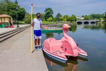 FLOATmingo Paddle Boat at Hoyt Lake